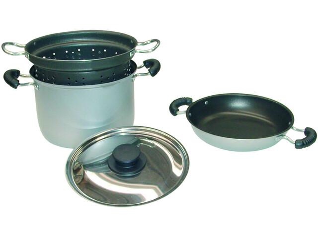 Brunner Zestaw do gotowania Aluminium z pokrywą ze stali nierdzewnej, 4-częściowy